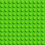 Fond parfait de lego de vecteur de bloc en plastique de construction de lustre de plan rapproché Vert illustration de vecteur