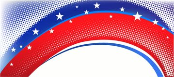 Fond patriotique américain Images libres de droits