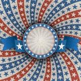 Fond patriotique américain abstrait avec la bannière Photos stock