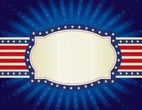 Fond patriotique de cadre Images libres de droits