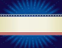 Fond patriotique de cadre Photos stock