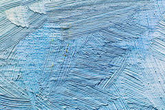 Fond peint à la main abstrait avec les courses bleues de brosse photos libres de droits