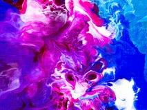 Fond peint à la main abstrait créatif coloré, texture, acr illustration stock