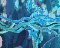 Fond peint à la main abstrait créatif, papier peint, texture, c Photographie stock libre de droits