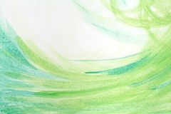 Fond peint à la main abstrait créatif vert, papier peint, texture, peinture acrylique sur la toile Art moderne Art contemporain Photographie stock libre de droits