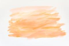 Fond peint à la main abstrait d'aquarelle sur le papier texture pour l'illustration créative de papier peint ou de conception Image libre de droits