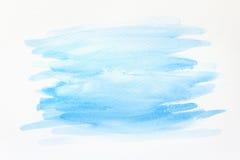 Fond peint à la main abstrait d'aquarelle sur le papier texture pour l'illustration créative de papier peint ou de conception Photos stock