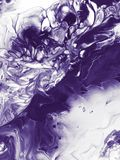 Fond peint à la main abstrait ultra-violet, peinture de texture illustration stock
