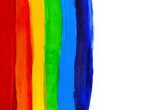 Fond peint à la main acrylique abstrait Drapeau d'arc-en-ciel d'aquarelle Symbole de lgbt, de paix et de fierté Photos libres de droits
