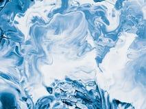 Fond peint à la main créatif abstrait bleu Photographie stock libre de droits