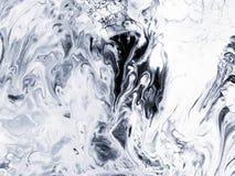 Fond peint à la main créatif abstrait noir et blanc Photographie stock libre de droits