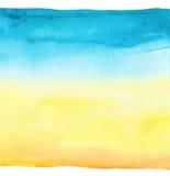 Fond peint à la main d'aquarelle bleue abstraite Papier texturisé Photographie stock libre de droits