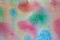 Fond peint à la main d'aquarelle multicolore Texture et fond acryliques abstraits pour des concepteurs Images stock