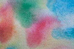 Fond peint à la main d'aquarelle multicolore Texture et fond acryliques abstraits pour des concepteurs Photos libres de droits