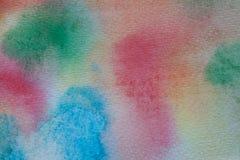 Fond peint à la main d'aquarelle multicolore Texture et fond acryliques abstraits pour des concepteurs Photo libre de droits