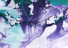 Fond peint à la main de marbre abstrait dans le style d'art moderne avec l'encre coulant librement liquide et la technique acryli photos stock