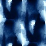 Fond peint à la main de modèle d'art d'eau de vagues mer d'abrégé sur d'aquarelle de texture sans couture colorée bleue de peintu Photos libres de droits