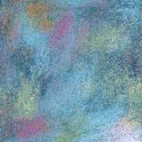 Fond peint à la main en pastel texturisé abstrait d'acrylique et de pétrole image stock