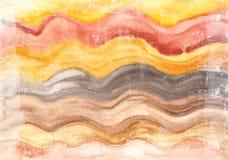 Fond peint à la main lumineux d'aquarelle Texture de papier âgée faite main Recouvrement grunge pour des cartes, invitations, Web Photographie stock