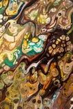 Fond peint créatif abstrait avec les peintures acryliques Images libres de droits