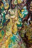 Fond peint créatif abstrait avec les peintures acryliques Photos stock