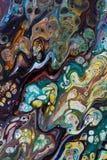 Fond peint créatif abstrait avec les peintures acryliques Photo stock