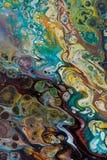 Fond peint créatif abstrait avec les peintures acryliques Images stock
