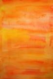 Fond peint à la main d'art d'aquarelle orange Images libres de droits