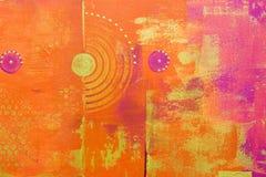 Fond peint par abstrait Photos libres de droits