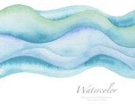 Fond peint par aquarelle abstraite de vague Texture (de papier) froissée Image stock