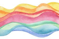 Fond peint par aquarelle abstraite de vague Texture (de papier) froissée Images libres de droits