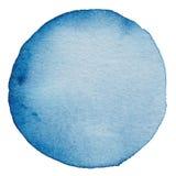 Fond peint par aquarelle de cercle Photo libre de droits