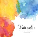 Fond peint par aquarelle Texture (de papier) froissée Images stock