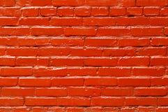 Fond peint solide de mur de briques Image libre de droits