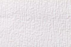Fond pelucheux blanc de tissu mou et laineux Texture de plan rapproché de textile photos stock