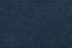 Fond pelucheux bleu-foncé de tissu mou et laineux Texture de textile léger de couche, plan rapproché Photo stock