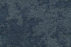 Fond pelucheux bleu-foncé de tissu mou et laineux Texture de textile léger de couche, plan rapproché Images stock