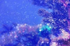 Fond pendant Noël ou la nouvelle année Photographie stock