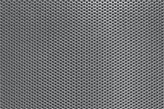 Fond perforé gris en métal Image libre de droits