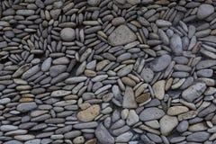 Fond pettern noir de mur en pierre Image libre de droits