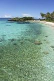 Fond Philippines de plage d'île de Malapascua Photo libre de droits