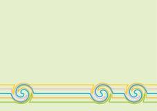 Fond, pistes et ronds verts illustration stock