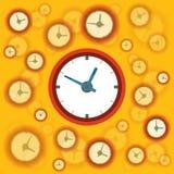 Fond plat d'horloge Image libre de droits