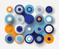 Fond plat de cercles illustration stock