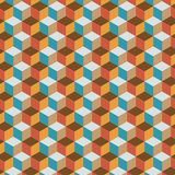 Fond plat de couleur de cube en vintage Photos libres de droits