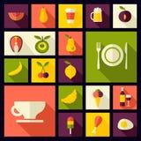 Fond plat de nourriture de style de vecteur Images libres de droits