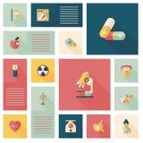 Fond plat médical d'ui, eps10 Photographie stock