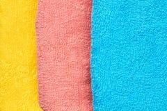 Fond plié de serviettes de bain image libre de droits