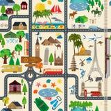 fond plus de ma course de portefeuille vacances Station balnéaire, campant Photographie stock