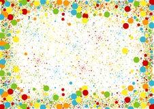Fond pointillé coloré Photos libres de droits